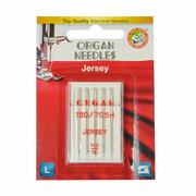 Иглы быт. маш. ORGAN трикотаж Jersey №100 (уп. 5 шт.)