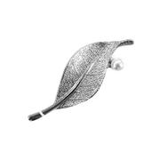 Брошь MT 1952 лист никель