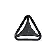 Пряжка трехщелевая 4,5 см треугольная М 337-45