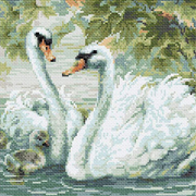 Алмазная мозаика Риолис АМ0036 «Белые лебеди» 30*30 см