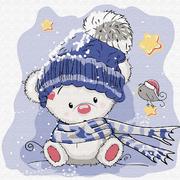 Набор для раскрашивания Molly KH0445  «Медвежонок зимой» 20*20 см