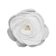 Цветок «Роза» 3AR539  брошь 11 см 7728296 белый