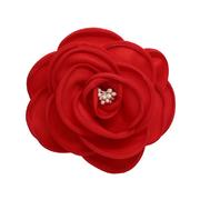 Цветок «Роза» 3AR539  брошь 11 см 7728296 красный