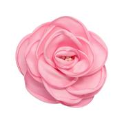 Цветок «Роза» 3AR539  брошь 11 см 7728296 свело-розовый