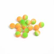 Бусины пластм.  8 мм «Шар матовый» (уп. 10 г) зелёный/оранжевый