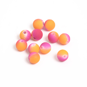 Бусины пластм.  8 мм «Шар матовый» (уп. 10 г) розовый/оранжевый