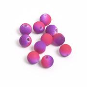 Бусины пластм.  8 мм «Шар матовый» (уп. 10 г) фиолетовый/розовый