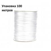 Шнур резиновый для масок 2 мм (уп. 100 м)  белый