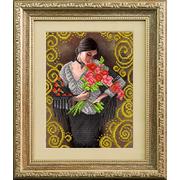 Рисунок для вышивания бисером Благовест К-4048 Прекрасный букет прекрасной женщине 20*25 см