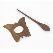 Заколка декор. для вязаныз изделий W22-05 MH COLLECTIONS (дерево) цв. натуральный