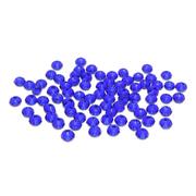 Бусины Астра стекло круглые  4AR373/376 3*4 мм  хрустальные 411 т.синий 7727729 (уп.75шт.)