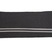 Подвяз трикотажный п/эTBY73045 т.серый с люрексом с серебряной полосами 14*100см