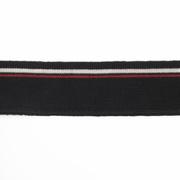 Подвяз трикотажный п/эTBY73075 черный с белой и красной полосами 3,5*80см