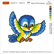 Набор для вышивания Нитекс 2401  «Воробушек» 22*22 см