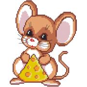 Набор для вышивания Нитекс 2459  «Мышонок с сыром»  22*22см