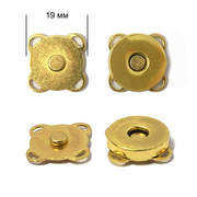 Кнопки пришивные TBY.MKK магнит 19 мм золото