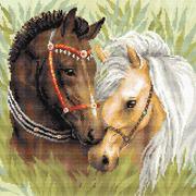 Алмазная мозаика Риолис АМ0039 «Пара лошадей» 40*40 см
