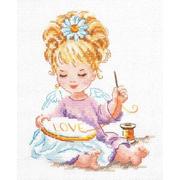 Набор для вышивания Чудесная Игла №33-24 «Маленькая рукодельница» 14*18 см