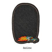 Заплатки термо-клеевые TEP.RO.19 джинс. черн. с  машинкой 8*12 см