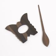 Заколка декор. для вязаныз изделий W22-01 MH COLLECTIONS (дерево) цв. натуральный