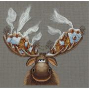 Набор для вышивания Panna ZM-7103 «Рождественский лось» 28*33 см