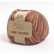 Пряжа Лима Колорс (Lima Colors Fibra natura )  шерсть 100% , 100 г / 260 м, 42140 бордо-оранж