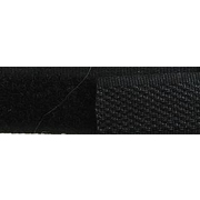 Липучка Китай 16 мм контакт (рул. 25 м) чёрн.