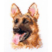 Набор для вышивания Алиса 0-209 «Животные в портретах. Овчарка» 8*6 см