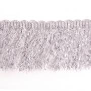 Бахрома меланж 10 см (уп. 16 м) серый