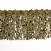 Бахрома меланж 10 см (уп. 16 м) хаки