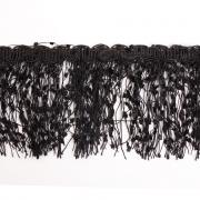 Бахрома меланж 10 см (уп. 16 м) чёрный