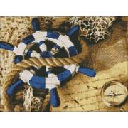 Алмазная мозаика АЖ-1068 «Капитанский штурвал» 40*30 см