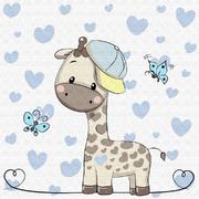 Картина по номерам Molly KH0450  «Маленький Жираф» 20*20 см
