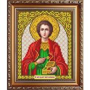 Рисунок на ткани «Славяночка» А5 ИС-5046 Св Пантелеймон 13*17,5 см