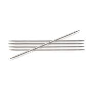 Спицы носочные Knit Pro  Nova Metal  3 мм/ 10 см 10129 никелированная латунь