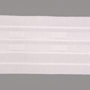 Шторная тесьма  60 мм №607 (уп. 50 м)бел. 4 нити равномерная