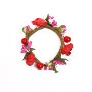Венок декоративный MH1-154 «Цветы и жемчуг» 2,5 х 7,5  см 7715358