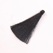 Кисти цветные для подушек 65 мм уп.12 шт. чёрный