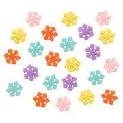 Бусины Астра пластик 4770# «Снежинки» 14*2мм  15гр. 7728453