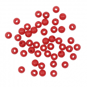 Бусины Астра пластик круглые глянец  6 мм (15 г)  7722541 красный
