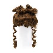 Волосы для кукол QS-13 11-12см (каштановые) 7709509