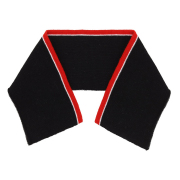 Воротник трикотажный 3AR1189 8*36 см черный/белый/красный 7729028