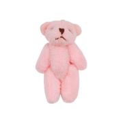 Декоративная фигурка мишка 4 см розовый 7728009