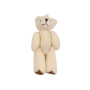 Декоративная фигурка мишка 6 см молочный с белым 7729524