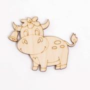 Заготовка для декора L-1424 «Корова.Тёлочка» 0,3*5*6 см 560351