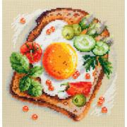 Набор для вышивания Чудесная Игла  №120-092 «Тост с яичницей» 16*16 см