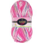 Пряжа Бамбино Матик (Bambino Matik), 100 г / 260 м, 9091 розовый+белый