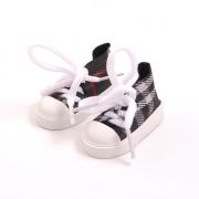 Обувь для игрушек (Кеды) AR 1056  3.5*4*7 см черный в клетку 7728282