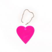 Световозвращающий значок (подвеска)  581826 «Сердце» розовый  50 мм