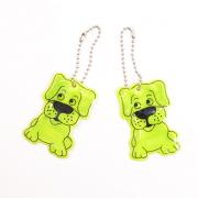 Световозвращающий значок (подвеска) 0165-2006 уп.2шт «Собака» 60 мм желтый